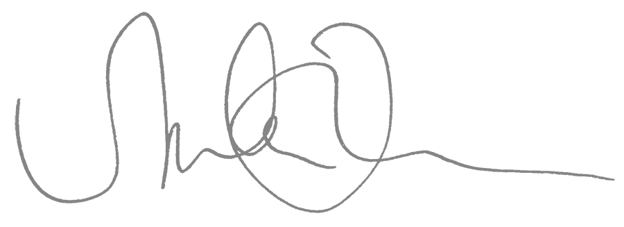 Sie sehen die schwungvolle Unterschrift von Marlene Kern