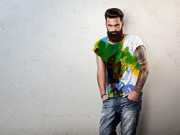 Sie sehen ein T-Shirt im Design von Free Form° 187.